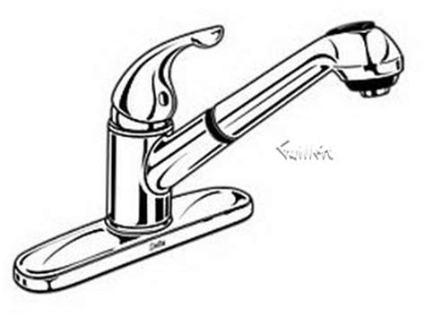 Delta Faucet Model Number Location by Order Replacement Parts For Delta 462 Single Handle Lever Pull Out Spray Kitchen Faucet
