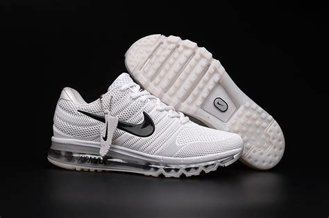 cheapest nike air maxs 2017 mens all white running shoe