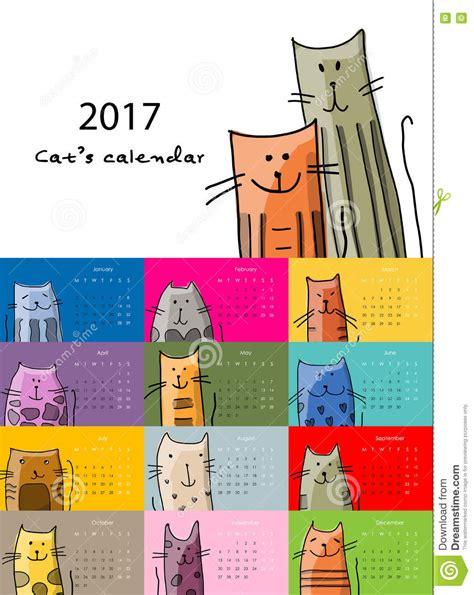 funny bees calendar 2017 design stock vector image 81720022 funny cats design calendar 2017 stock vector image