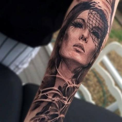 tattoos of women s faces asian realistic by jak connolly best