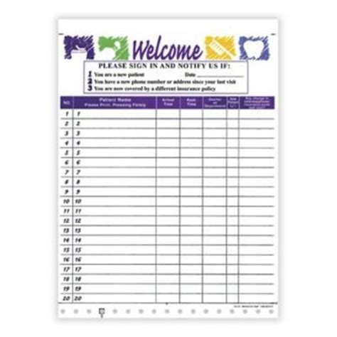 dental sign in sheet template dental office sign in sheet
