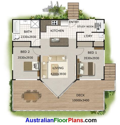 2 BEDROOM KIT HOME PLAN 100 DRAGONFLY  2 BED kit home