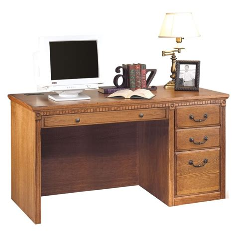 distressed wood computer desk kathy ireland home by martin furniture huntington oxford