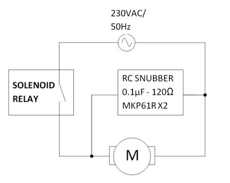 motor snubber capacitor how to design an rc snubber for a solenoid relay driving an inductive load electrical
