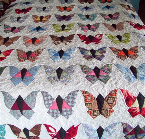 Butterflies Quilt by You To See Vintage Butterfly Quilt On Craftsy