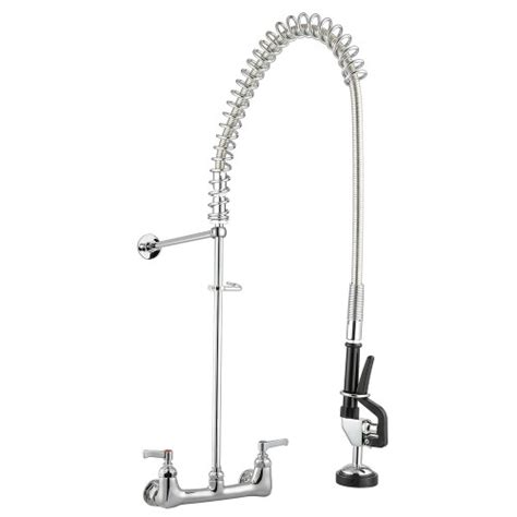 Industrial Kitchen Faucet Sprayer New Commercial Pre Rinse Pull Sprayer Kitchen Faucet Chromed With Flex Hose Jet