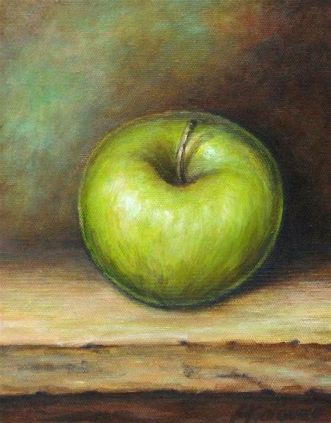 painting for mac green apple by mirjana gotovac
