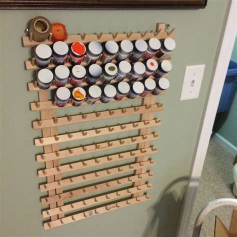 Airbrush Paint Rack craft or model paint storage rack on the cheap