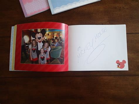 Handmade Disney Autograph Books - custom autograph books disney cruise