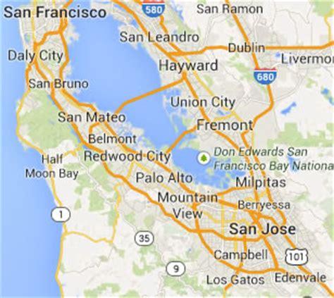 map of san francisco san jose area san jose roll up door repair and installation