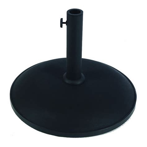 Patio Umbrella With Base Shop Fiberbuilt Black Patio Umbrella Base At Lowes