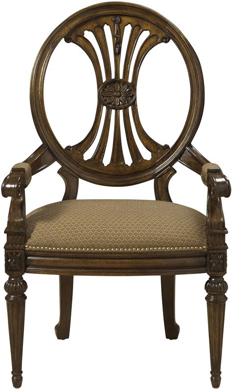 traditional antique style dining arm chair with coffee