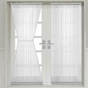 Sheer Door Curtains Abri Sheer Door Curtain Panel At The Trendy Bed