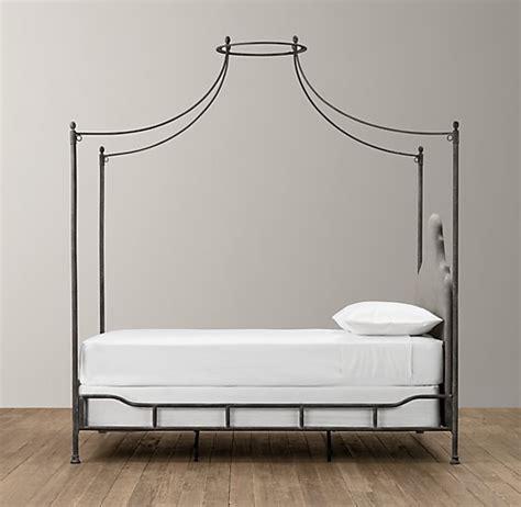 iron canopy bed allegra iron canopy bed fog vintage velvet