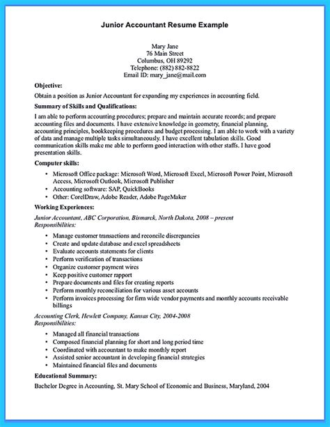 sample  writing  accounting resume