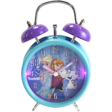 light up alarm clock disney anna and elsa light up quartz analog twin bell