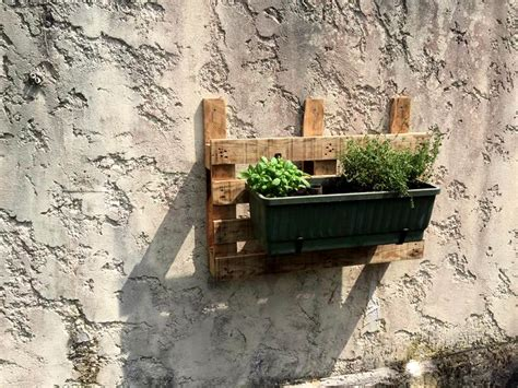 metal wall planter diy pallet pot holder wall planter