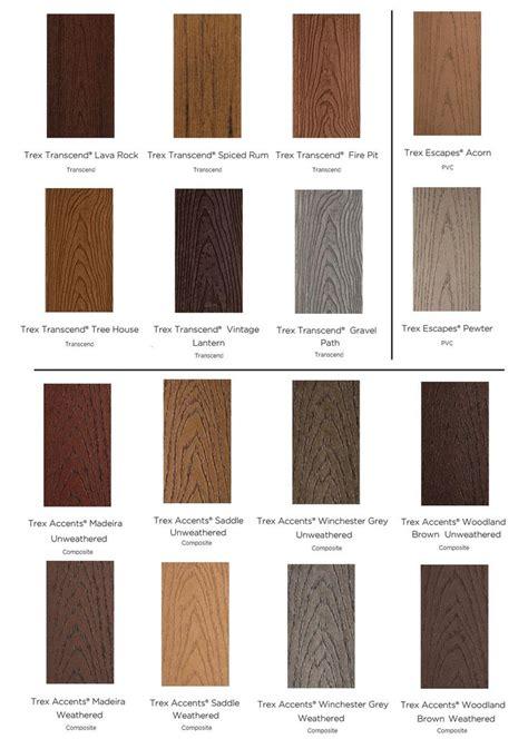 composite colors 25 best ideas about trex decking colors on