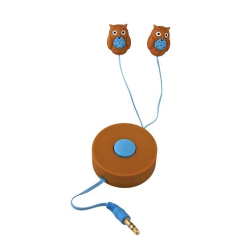 Earbuds Giveaway - retractable owl earbuds review giveaway emily reviews