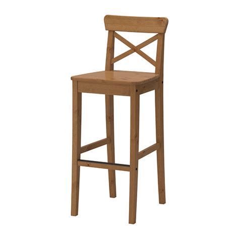 ingolf bench ingolf bar stool with backrest 29 1 8 quot ikea
