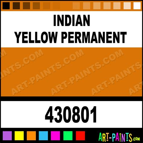 indian yellow permanent artist paints 430801 indian yellow permanent paint indian