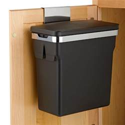 Garbage Can Cabinet Simplehuman Black In Cabinet 2 6 Gal Trash Can The