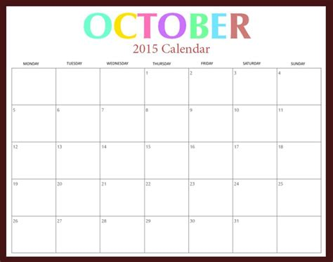 free download 2015 calendar 2015 october printable