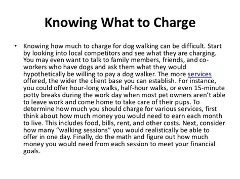 how much to charge for walking how to start a walking business