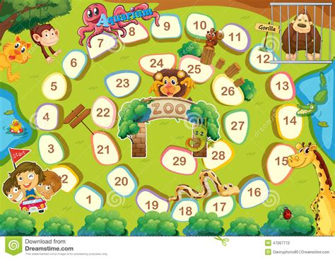 themes card games zoo theme boardgame stock vector image 47067772