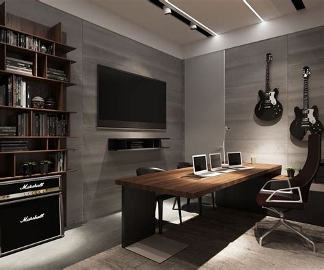 Examples  Modern Simplicity Home Office Design Man