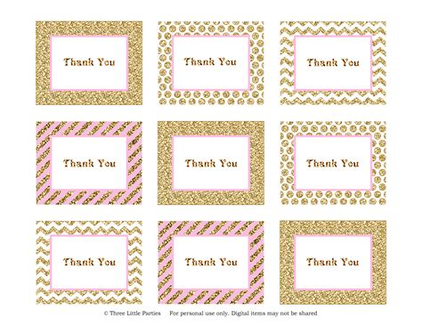 printable thank you label sparkle thank you tags freebie