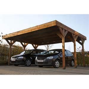 carport bois enzo 2 voitures 29 48 m 178 leroy merlin