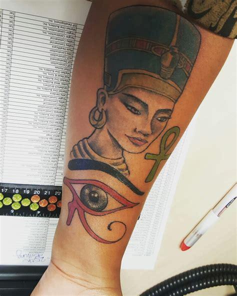 tattoo of queen nefertiti fresh ink queen nefertiti the eye of horus and the