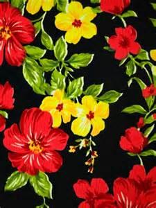 Yellow Silk Flowers - lycra tropical floral jacquard print fabric