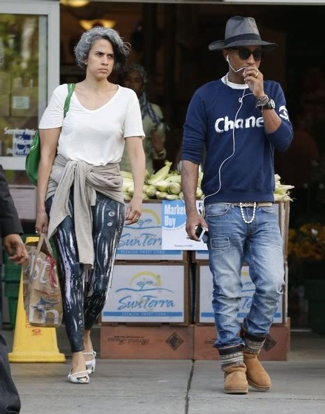 helen lasichanh short hair pharrell williams his wife out about flow style