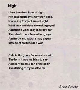 Night poem by anne bront 235 poem hunter comments