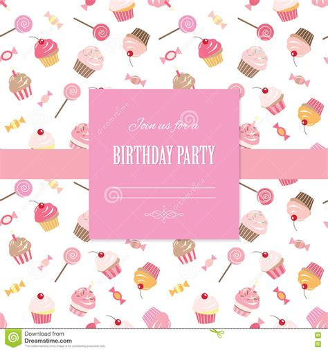girly birthday card templates template for scrapbook girly design stock