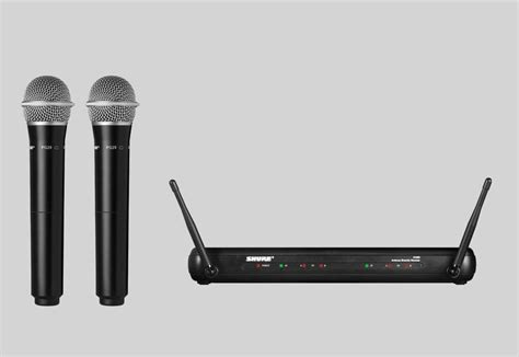 Mic Wireless Svx 557 2 Mic Pegang shure svx dual wireless microphone system 2x pg28 mic vocal handheld svx288pg28 ebay