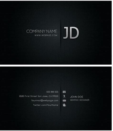 free blank business card template psd blank visiting card background black design cyberuse