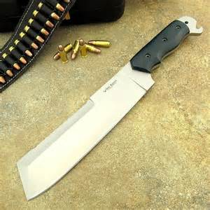 s custom handmade d2 tool steel knife machete