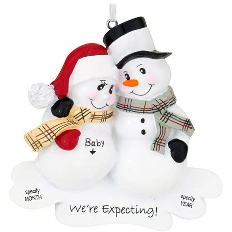 christmas ornaments for ecpecting parents personalized we re expecting snowman ornament penned ornaments