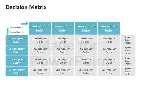 decision matrix template free decision matrix diagrams editable ppt slides