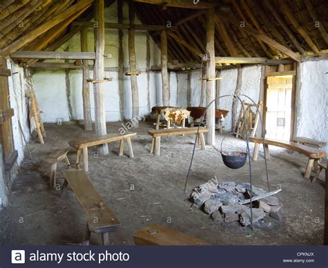 medieval house interior a medieval farm house interior at the museum of early