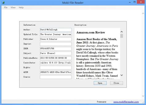 mobi reader reader for mobi mobi file reader e book software fileeagle