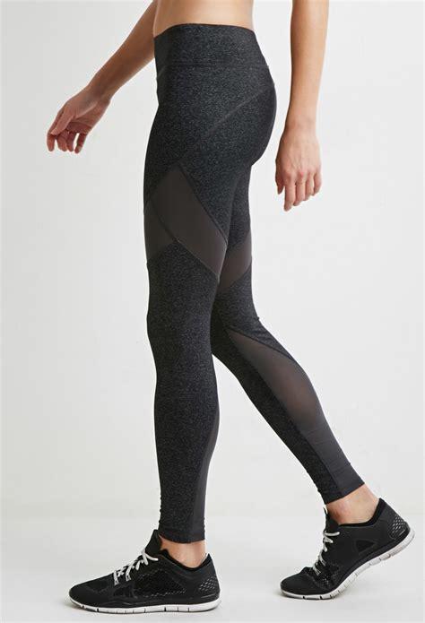 Forever 21 Active Legging Back Mesh Grey forever 21 active contrast mesh paneled in gray lyst