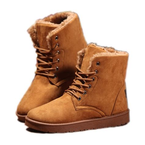 casual mens winter boots 2015 winter snow boots fashion toe fur boots