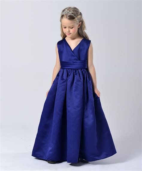Dress Kid Bungashan 3 fashion sapphire blue wedding kid formal dresses size 3 to 14 in dresses