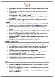 Resume For Work Experience Sample for excellent work experience chartered accountant resume sample doc