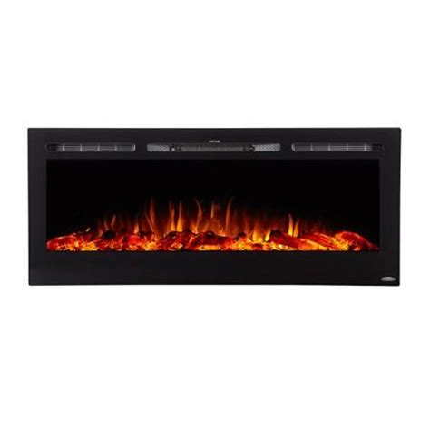 Recessed Electric Fireplace Touchstone Sideline 50 Inch Wall Mounted Recessed Electric Fireplace Black 80004