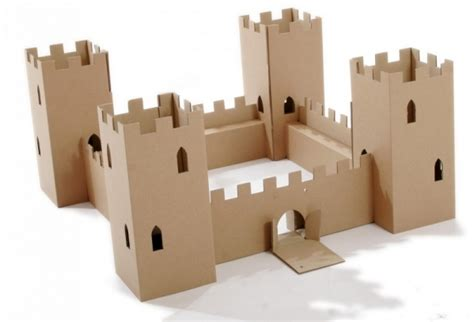 Make A Paper Castle - cardboard castle 13 adorably charming gifts